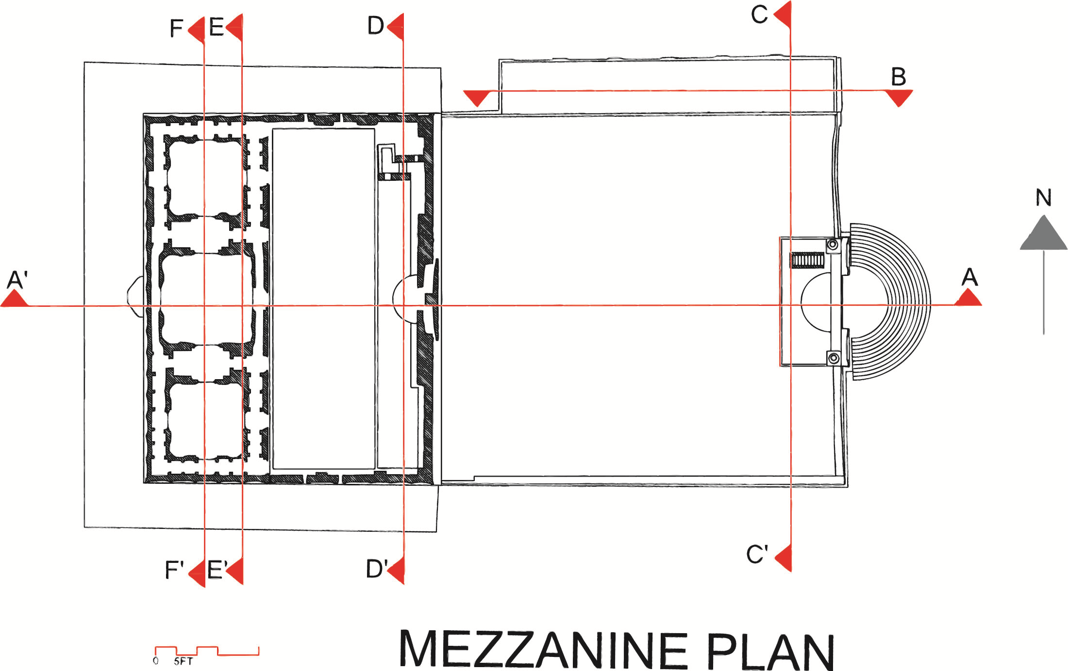 Mezzanine Floor Elevation : Heritage pk masjid khudabad floor plans